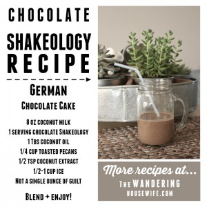 CHOCOLATE SHAKEOLOGY RECIPE:: German Chocolate Cake | by TheWanderingHousewife.com
