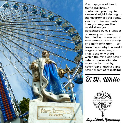 T. H. White quote | TheWanderingHousewife.com