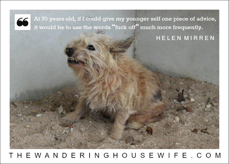 Helen Mirren quote | TheWanderingHousewife.com
